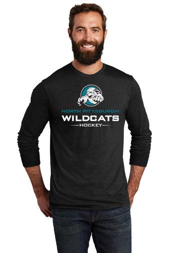 NP Wildcats-Allmade Recycled Long Sleeve Shirt-Wildcat Logo 2