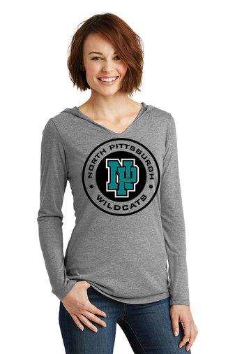 NP Wildcats-Women's Long sleeve T-Shirt Hoodie-Wildcat Round Logo