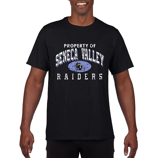 "Black Short Sleeved t-shirt with ""Property of SV Raiders"" design"