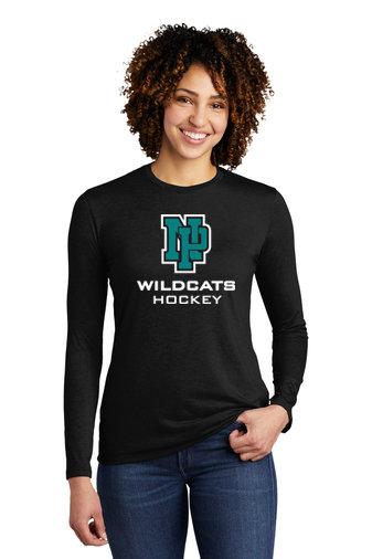 NP Wildcats-Women's Allmade Recycled Long Sleeve Shirt-NP Logo