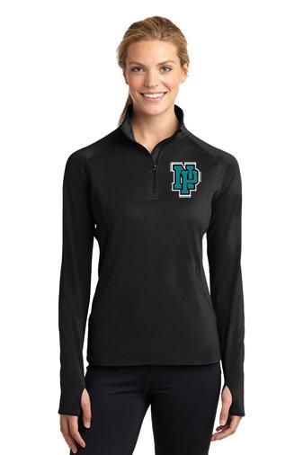 NP Wildcats-Women's Printed Sport Wick Quarter Zip Jacket