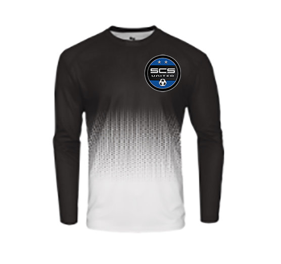 SCS-Badger Performance Hex Long Sleeve-Left Chest Logo