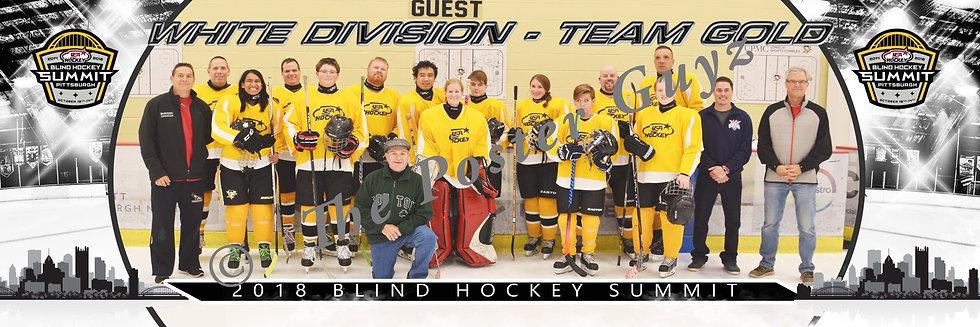 Blind Hockey White Division - Team Gold