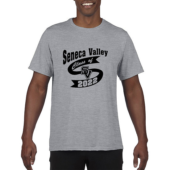 """Short Sleeved t-shirt with """"Class of 2022"""" design"""