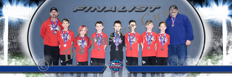 Dragons Futsal U11B Finalist with Coaches