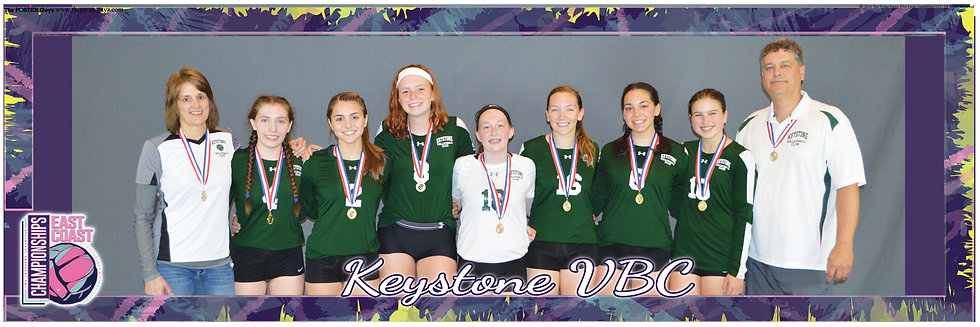 Keystone Volleyball Club 16 White with medals