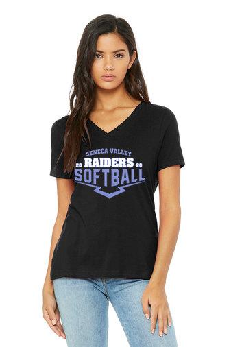 SVSoftball-Women's Bella and Canvas V-Neck Shirt
