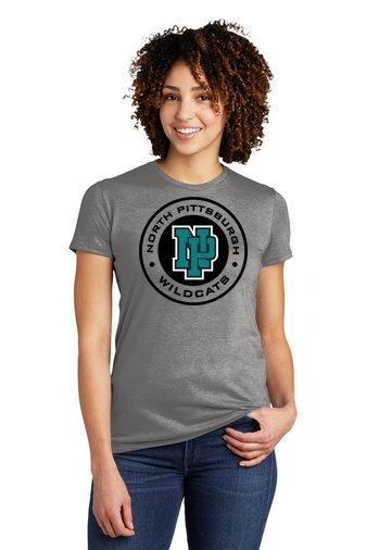 NP Wildcats-Women's Allmade Recycled Short Sleeve Shirt-Wildcat Round Log