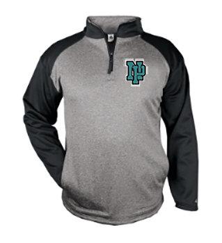 NP Wildcats-Badger Tonal Quarter Zip Jacket
