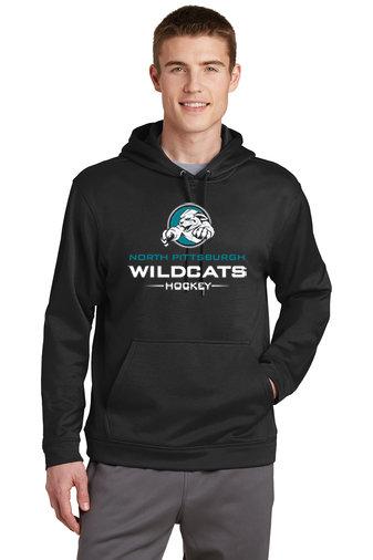 NP Wildcats-Performance Hoodie-Wildcat Logo 2