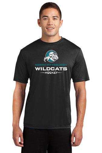NP Wildcats-Short Sleeve Dri Fit-Wildcat Logo 2