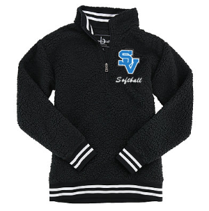 SVSoftball-Quarter Zip Sherpa Jacket