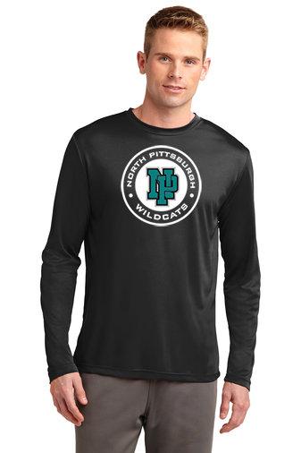 NP Wildcats-Long Sleeve Dri Fit-Wildcat Round Logo