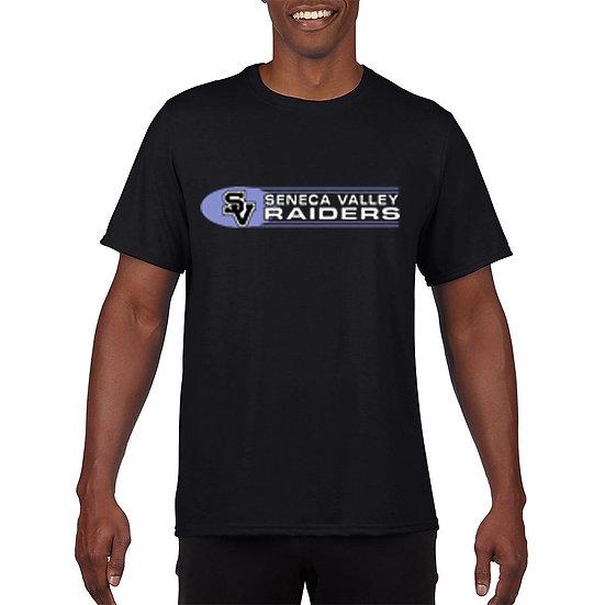 Black Short Sleeved t-shirt with SV Raiders design