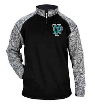 NP Wildcats-Badger Sport Blend Quarter Zip Jacket