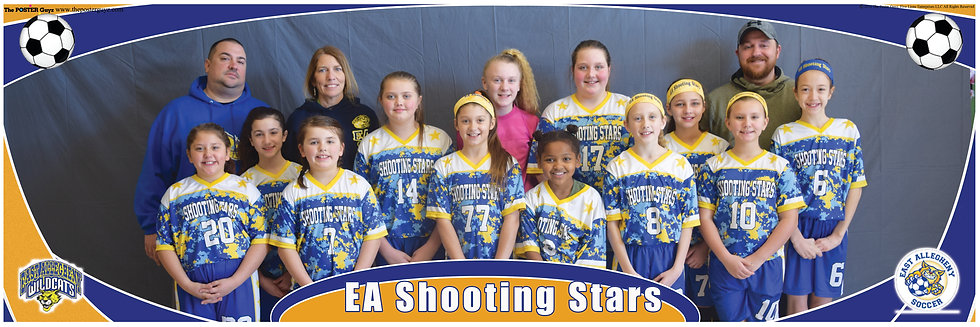 EA Shooting Stars u12G with coaches