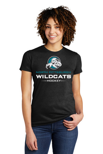 NP Wildcats-Women's Allmade Recycled Short Sleeve Shirt-Wildcat Logo 2