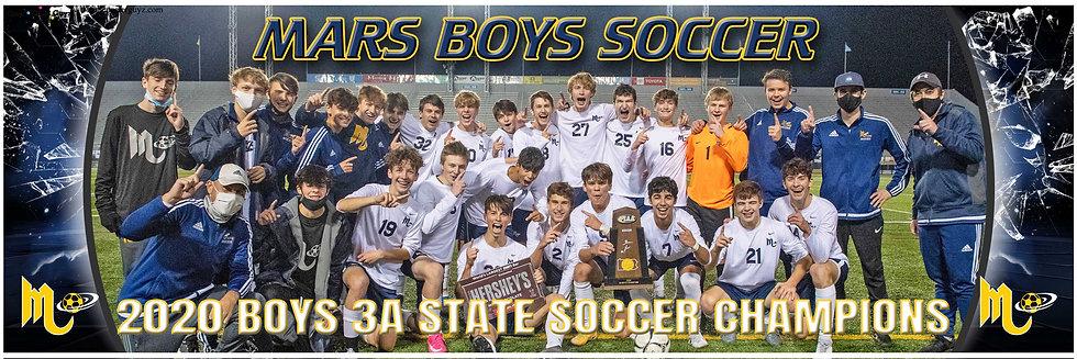 2020 Mars Boys Soccer Championship Team Poster