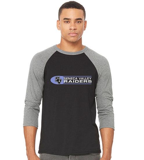 "Baseball style t-shirt with ""SV Raiders"" design"