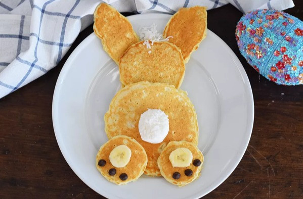 Easter banana pancakes