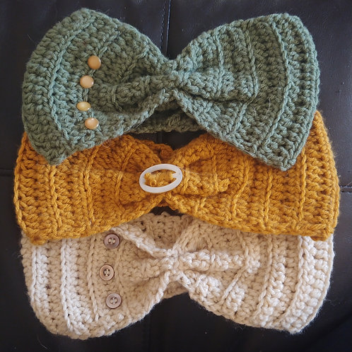 Ear Warmers featuring Vintage Buttons