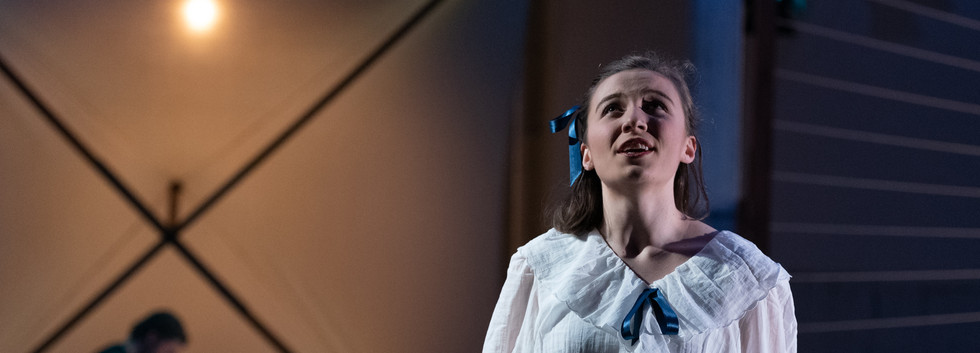 Lisette Bolton as Olive Hargrave in Barry Conyngham's Fly by Lyric Opera. Photo by Lachlan Woods.