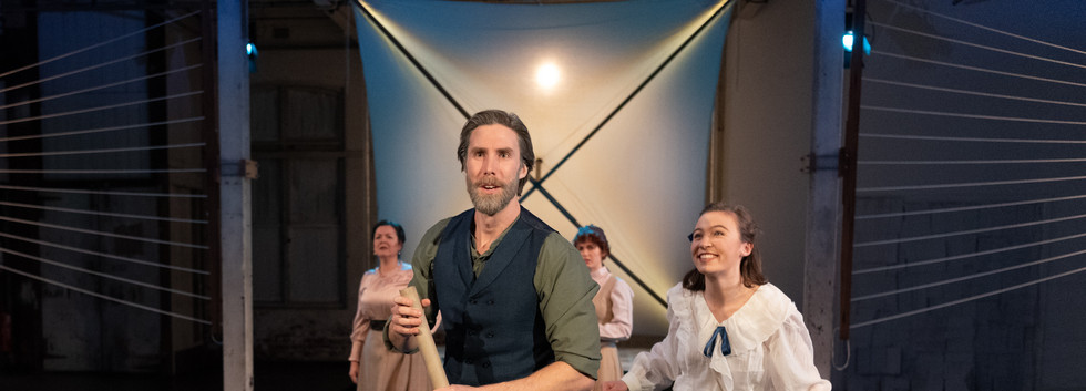 Fly- CREDITSam Roberts-Smith as Lawrence Hargrave and Lisette Bolton as Olive in Barry Conyngham's Fly by Lyric Opera. Photo by Lachlan Woods. LACHLAN WOODS - HI RES-135 c