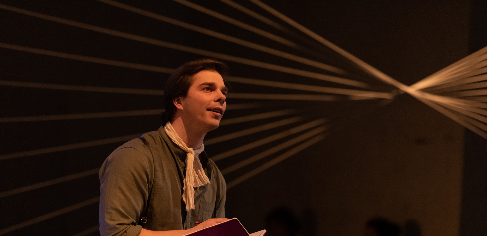 Cameron Sibly as Young Lawrence Hargrave in Barry Conyngham's Fly by Lyric Opera. Photo by Lachlan Woods.