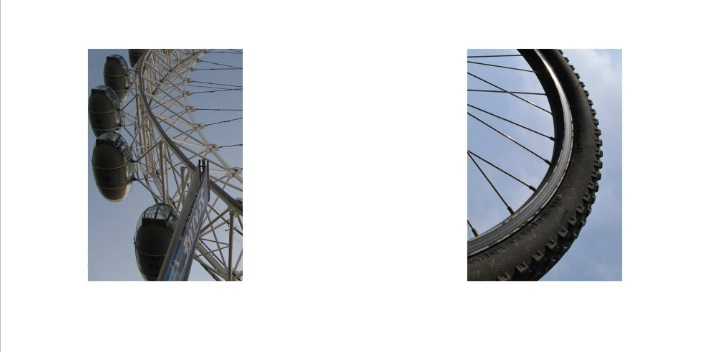 London Eye/ Bike Tire