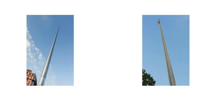 Spire, Dublin/ Flagpole