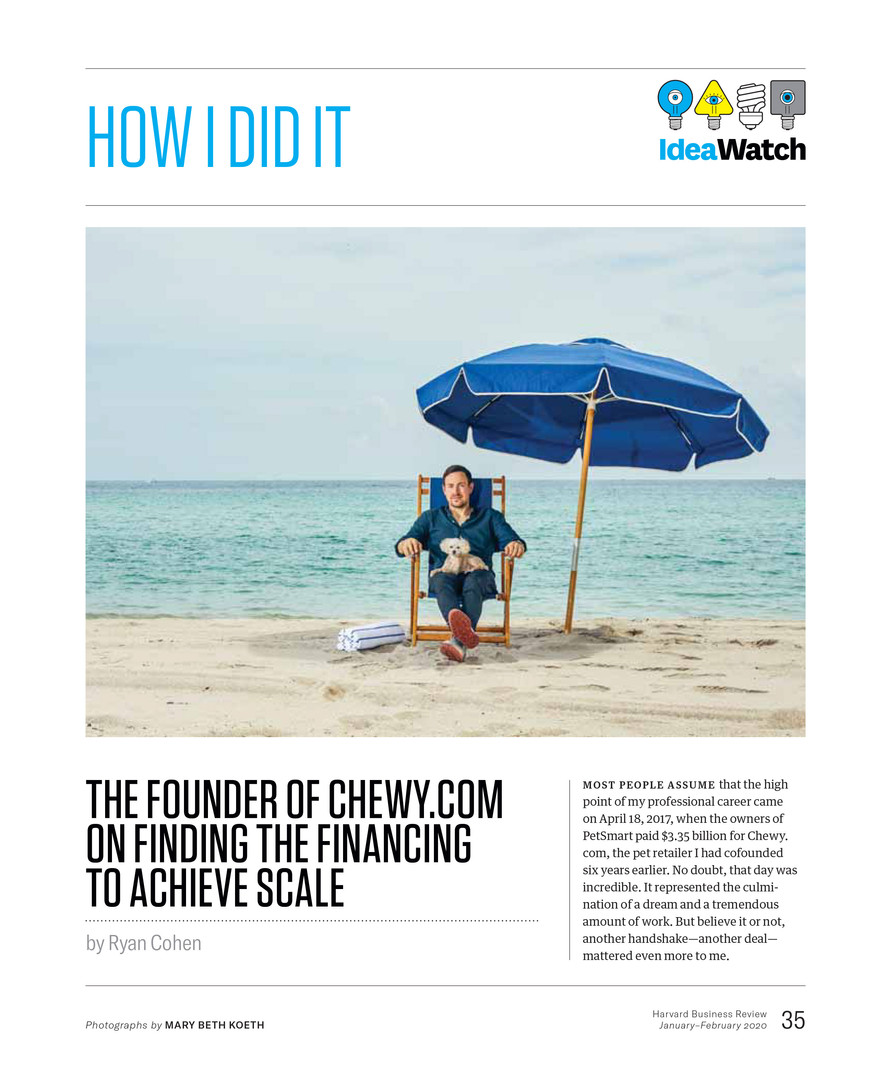 HBR: Ryan Cohen, Former CEO of Chewy.com