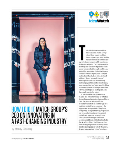 HBR: Mandy Ginsberg, CEO of Match Group