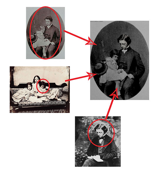 Lewis Carroll and Alice Lidell of Alice in Wonderland in fake photography