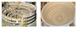 Colosseum, Rome/ Pasta Strainer