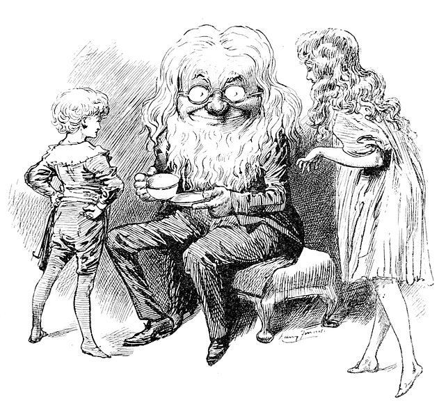 Illustration from Sylvie and Bruno Lewis Carroll