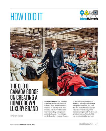 HBR: Dani Reiss, CEO of Canada Goose