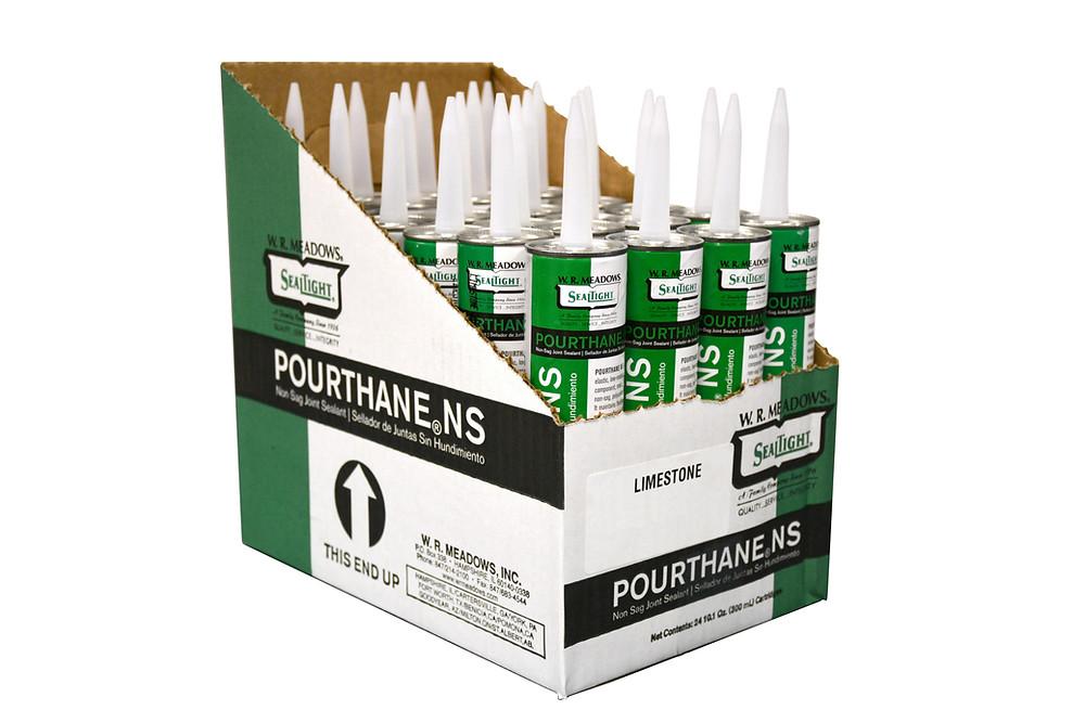 POURTHANE NS es un sellador de poliuretano elástico, de bajo módulo, de un solo componente, que cura con la humedad y no se hunde.
