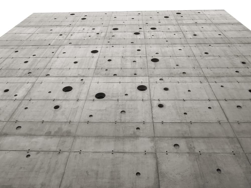 Muro de hormigón en Chile