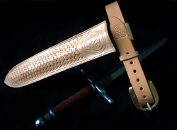 Dagger scabbard and belt