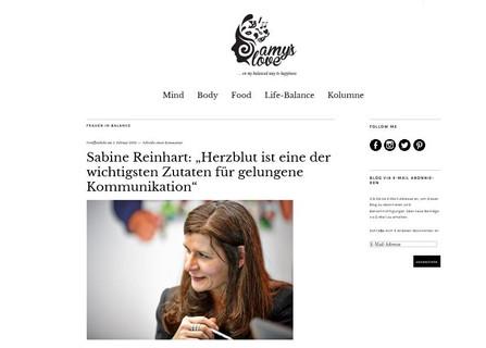 Sabine Reinhart im Interview mit amyslove.com