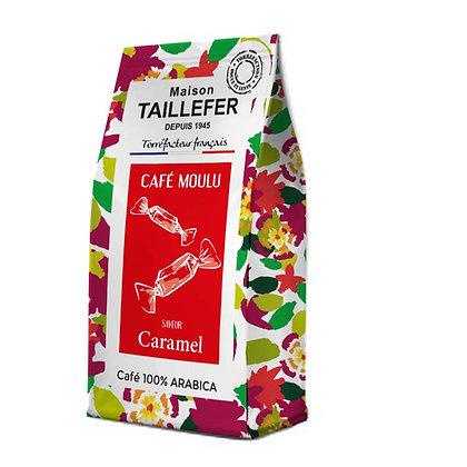 Café moulu saveur caramel