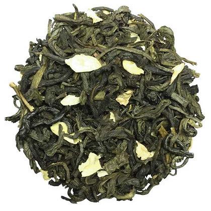 Jasmin, thé vert parfumé fleurs de jasmin.