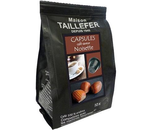 Capsules café saveur noisette