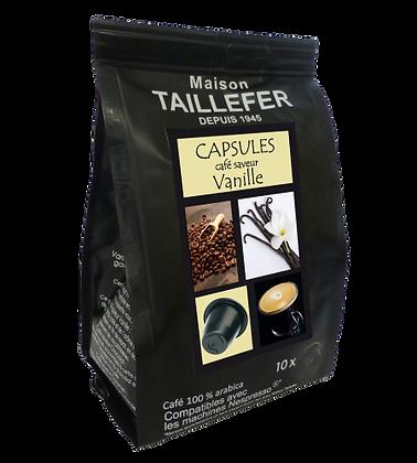 Capsules café saveur vanille