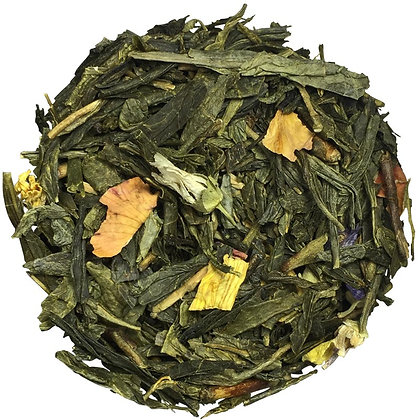Thé vert Mirabelle de Lorraine, à partir de 50g.