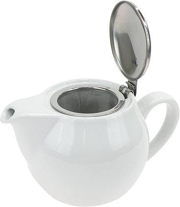 Théière en porcelaine avec filtre inox.