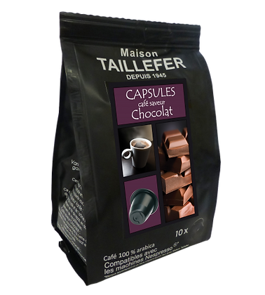 Capsules café saveur chocolat