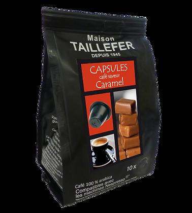 Capsules café saveur caramel