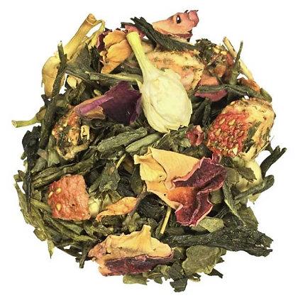 Thé vert Fleur de fraise, à partir de 50g.