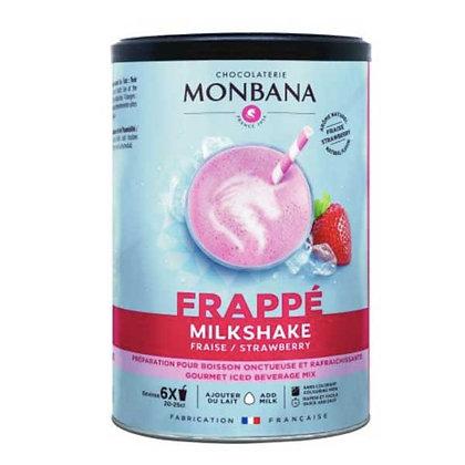 Milkshake fraise Monbana, pot 250gr.